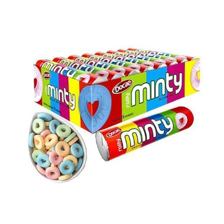 Pastilha Rolly Minty Cx C/16 - Sabores