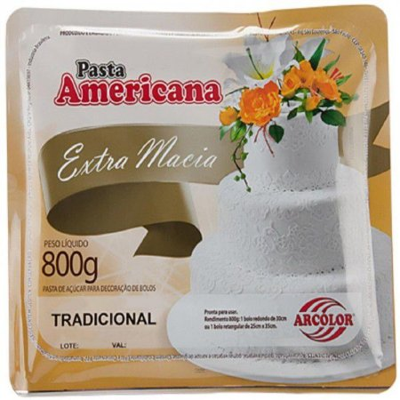 Pasta Americana Extra Macia Arcolor 800g - Sabores