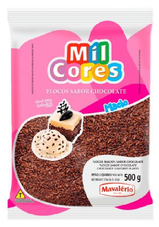 Flocos Macio Chocolate Mil Cores 500g