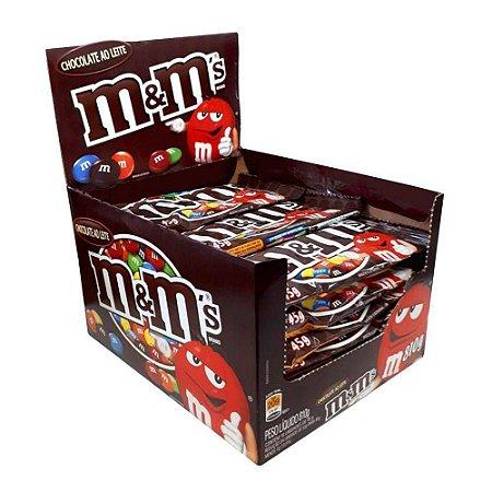 Confeito Chocolate M&M Plain Mars 45g C/18