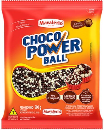 Choco Power Ball Micro Sabor Chocolate ao Leite e Chocolate Branco 500g