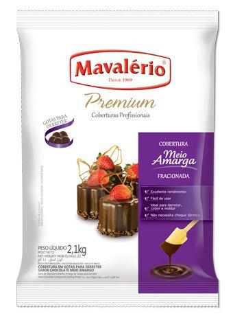 Cobertura Mavalerio Gotas Chocolate Meio Amargo 1,010 Kg