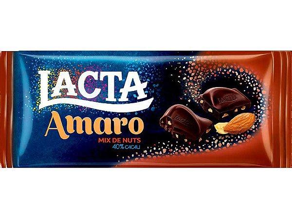 Chocolate Lacta Amaro Amendoim 40% Cacau 90g C/17