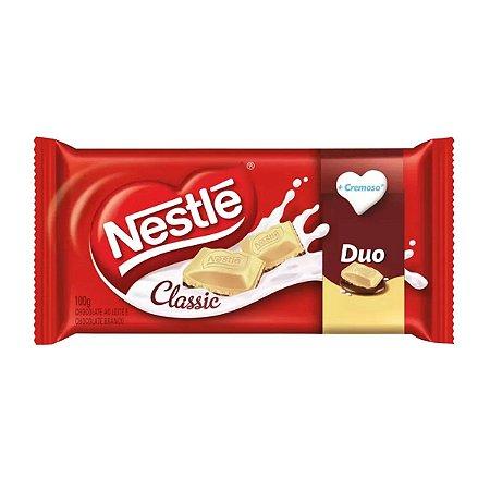 Chocolate ao Leite e Branco Nestlé Classic Duo Cx C/14