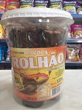 Paçoca Rolhão com Chocolate Din Dan Pote C/20