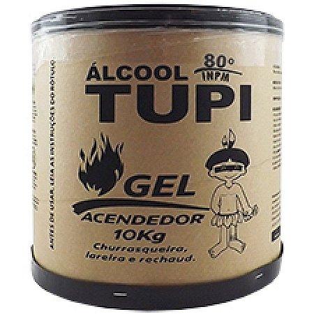 Álcool Gel Acendedor Tupi 80% 10 Kg