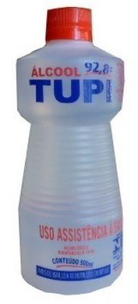 Álcool Líquido Neutro 92,8 Tupi 500ml  Cx C/12