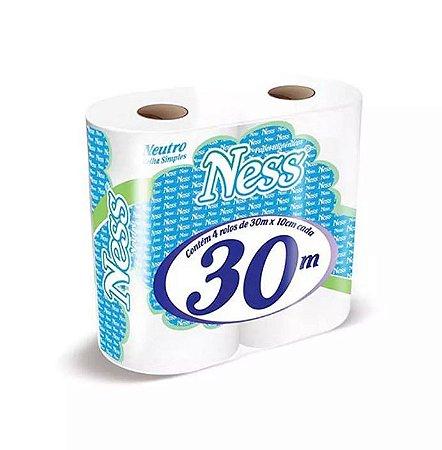 Papel Higiênico Folha Simples Ness C/4 Rolos