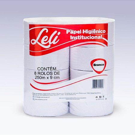 Papel Higiênico Rolão Branco Leli 250mts C/8 Rolos
