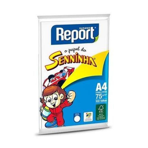 Papel Sulfite Report Seninha Branco C/100