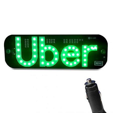 Placa Luminosa Uber/99