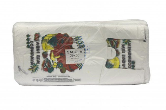 Sacola Branca Hortifruti 38x48 C/1000