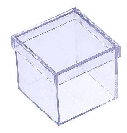 Caixa Acrílica 4x4 Cristal C/10