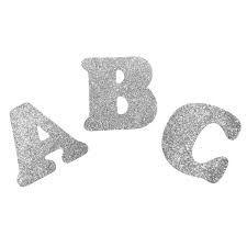 Letra EVA Glitter Prata Letras Uni