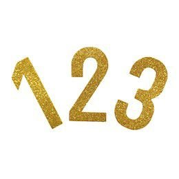 Painel EVA Glitter Dourado Números Uni
