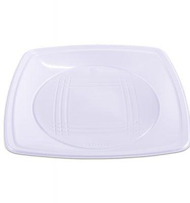 Prato Quadrado Quality Line Médio Branco C/10