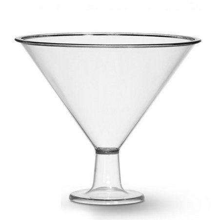 Taça Acrílica Martine Três Triângulos Cristal