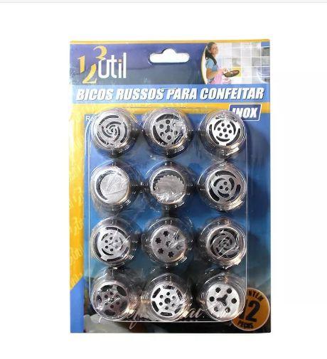 Bicos Russos P/ Confeitar C/12 Metal