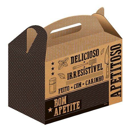 Caixa Kit p/ Lanche Kraft Pct c/50