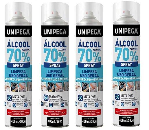 Unipega Álcool 70° Spray Lata 400ml/290g