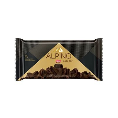 Barra Alpino Black Top Meio Amargo 100G