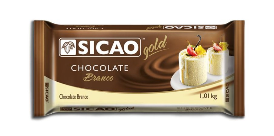 Choc Sicao Branco Gold Barra 1,01Kg