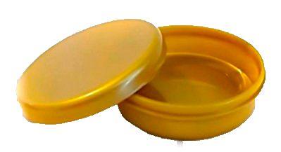 Latinha Plástica Dourada Pct c/10