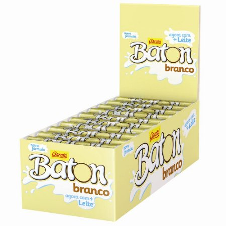 Baton Chocolate Branco CX C/30 UNI
