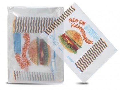 Saco PP Imp. Pão de Hambúrguer  P/4 100 UNI