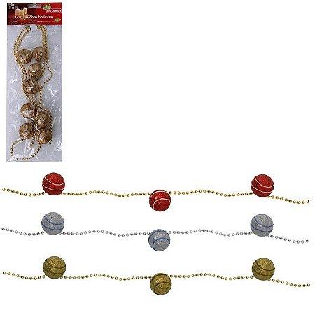 Cordão 3 Cores Variadas c/8 Bolas