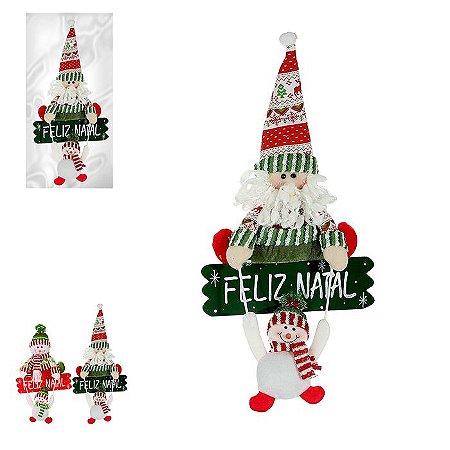 Enfeite Feliz Natal Noel c/ Boneco