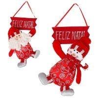 Placa Feliz Natal Boneco Noel