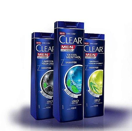 Shampoo Clear Men 200ml tipos