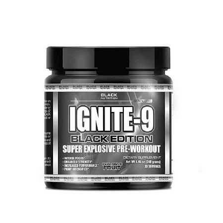 Pré-Treino Ignite-9 240g Black Line Explosive Fruit Black Nutrition