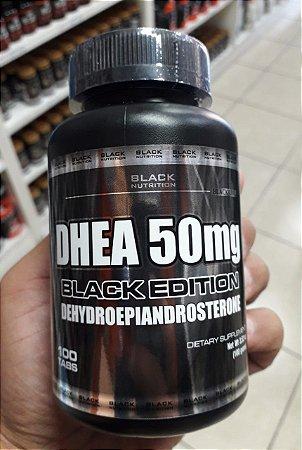 DHEA 50MG BLACK LINE COM 100 TABLETES BLACK NUTRITION (ATACADO KIT COM 10 POTES)