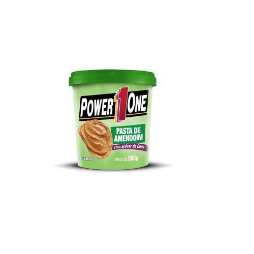 Pasta de Amendoim com açúcar de coco 500g - Power 1One