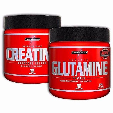 Combo Volume Muscular Creatina 300g + Glutamine 300g – Integralmédica