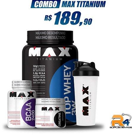 Combo  Definição e Massa Muscular - Max Titanium