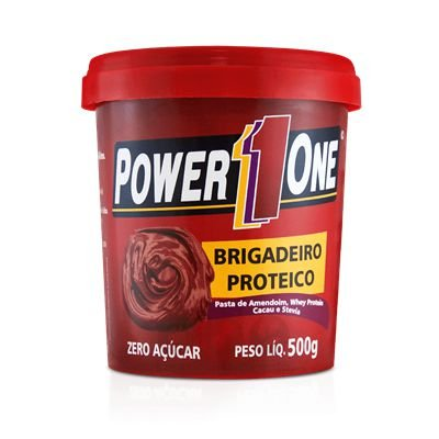 Pasta de Amendoim c/Brigadeiro Proteico 500g - Power 1One