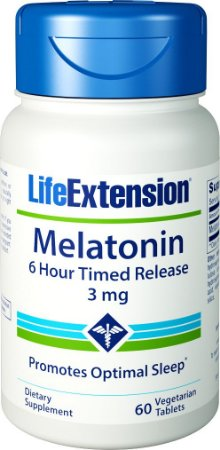 Melatonin 6 Hour Time Release 3mg c/60 tabletes - LifeExtension