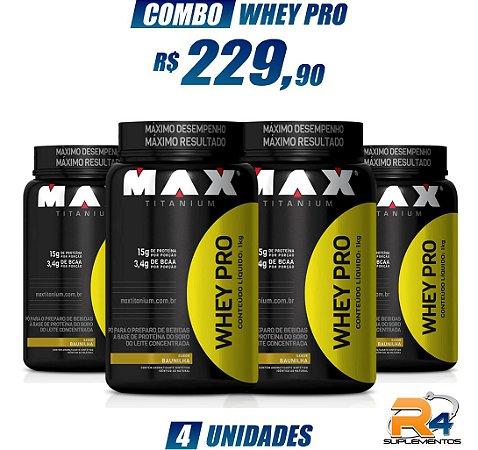 Combo Whey Pro 1kg - Max Titanium