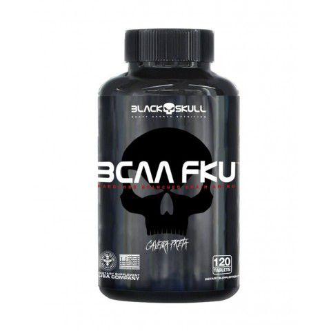 BCAA FKU Caveira Preta com 120 Tabletes de 1500mg Black Skull