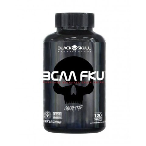 BCAA FKU Caveira Preta (120 Tabs) - Black Skull