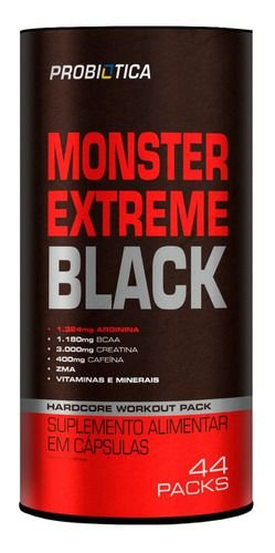 Monster Extreme Black c/44 - Probiótica
