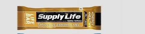Barra de Tapioca de Banana e Mel 30g c/24 Unidades - Supply Life