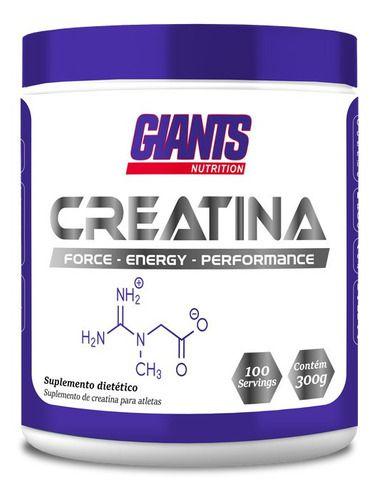 Creatina Pura 300g Giants Nutrition Ideal para quem busca ganho de massa magra e resistência para o treino