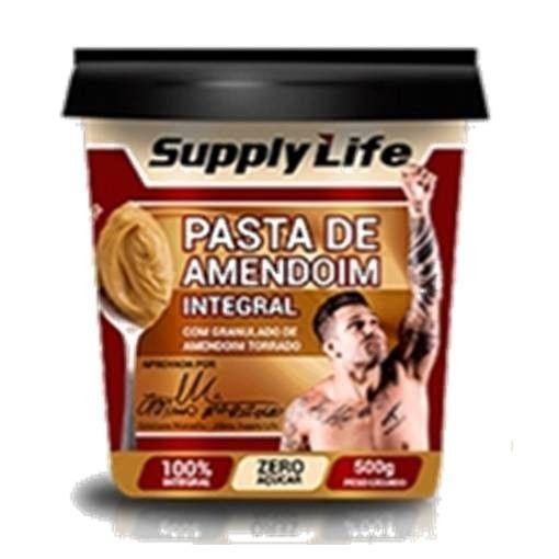 Pasta de Amendoim Integral Crocante 500g - Supply Life