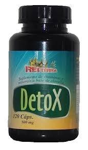 Detox Suplemento 500mg c/120 Cápsulas - Rei Terra