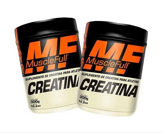 Kit com 2 Creatinas 300g Monohidratada - Muscle Full - Massa Muscular