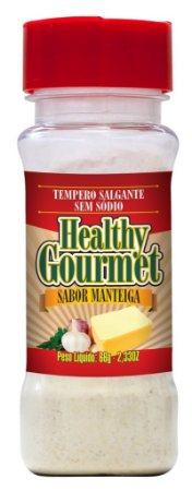 Tempero Salgante sem Sódio 66g Manteiga - Healthy Gourmet